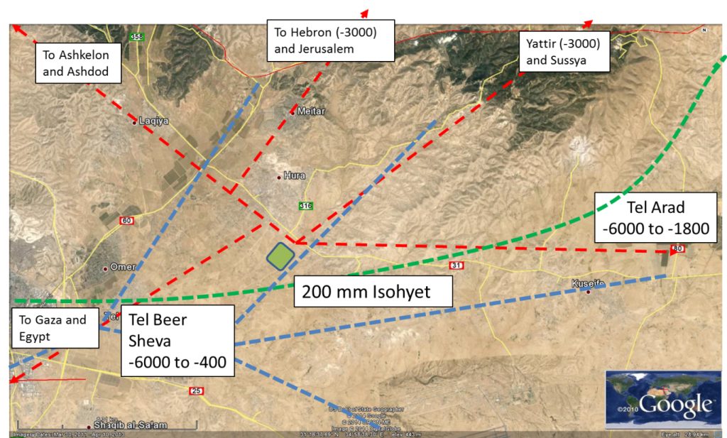 Schematic annotation of the Project Wadi Attir area