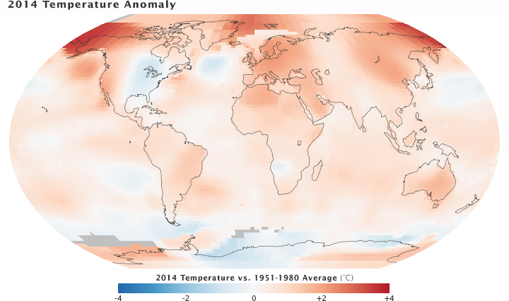 Temperature anomaly NASA 2014