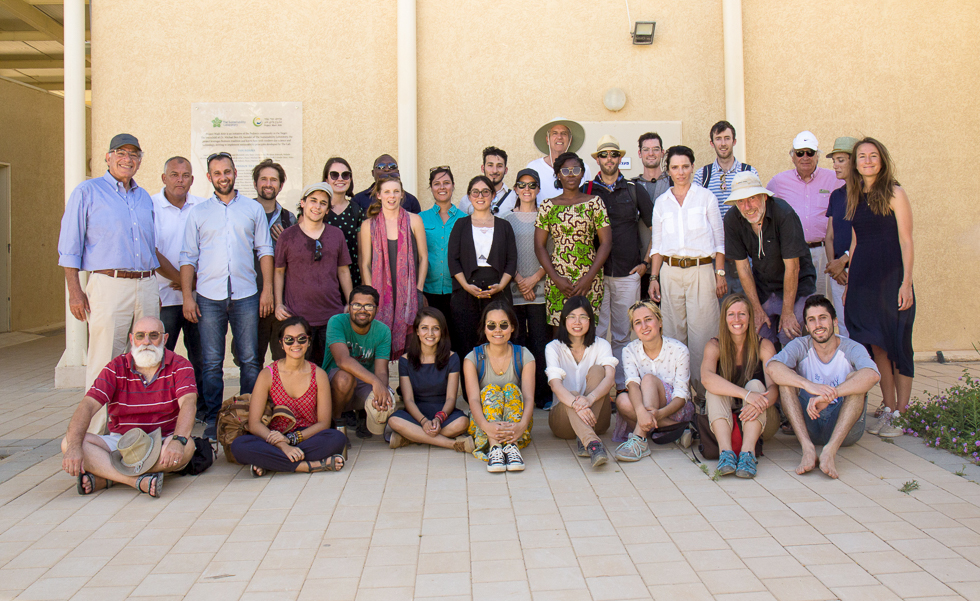 2018 GSF fellows group photo at Project Wadi Attir