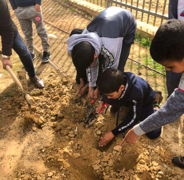 Students from Tal El Maleh School at Project Wadi Attir