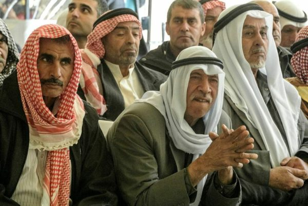 Members of diverse Bedouin tribes visiting Project Wadi Attir